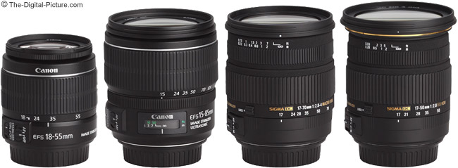 Sigma 17-70mm f/2.8-4 DC Macro OS Lens Compared to Similar Lenses