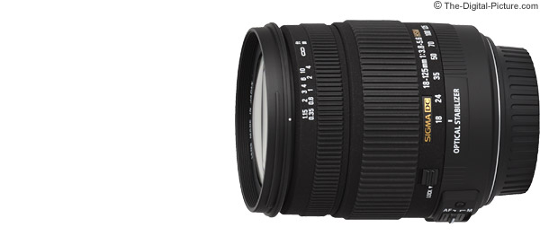 Sigma 18-125mm f/3.8-5.6 DC OS HSM Lens product images