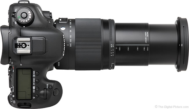 Sigma 18-300mm f/3.5-6.3 DC OS HSM Contemporary Lens – Top View Extended