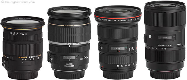 Sigma 18-35mm f/1.8 DC HSM Art Lens Compared to Similar Lenses