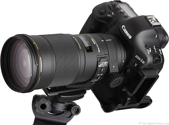 Sigma 180mm f/2.8 EX DG OS HSM Macro Lens Angle View