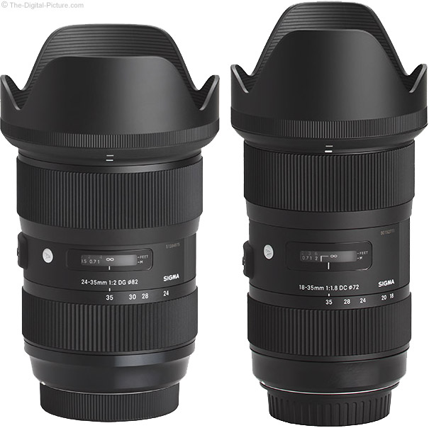 Sigma 24-35mm f/2 Art Lens Compared to the 18-35mm f/1.8 Art Lens