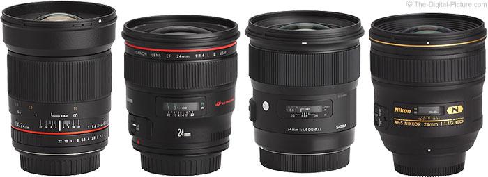 Sigma 24mm f/1.4 DG HSM Art Lens Compared to Similar Lenses