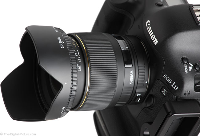 Sigma 24mm f/1.8 EX DG Lens High Angle View