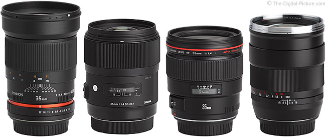 Sigma 35mm f/1.4 DG HSM Lens Compared to Similar Lenses
