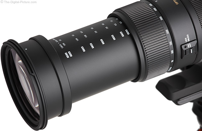 Sigma 50-500mm f/4.5-6.3 DG OS HSM Lens Close-Up