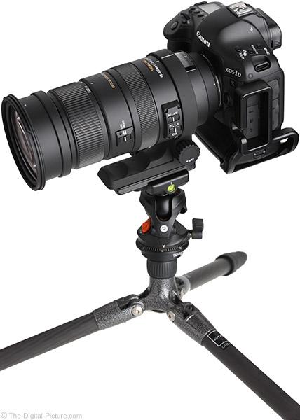 Sigma 50-500mm f/4.5-6.3 DG OS HSM Lens on Tripod