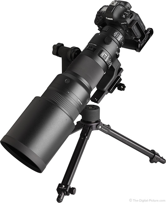 Sigma 500mm f/4 DG OS HSM Sports Lens Angle View with Hood