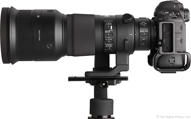 Sigma 500mm f/4 DG OS HSM Sports Lens Side View 2