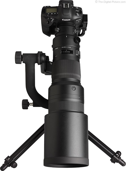 Sigma 500mm f/4 DG OS HSM Sports Lens Vertical View