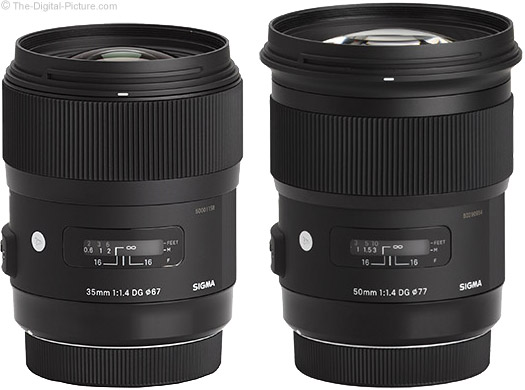 Sigma 35mm and 50mm f/1.4 Art Lenses