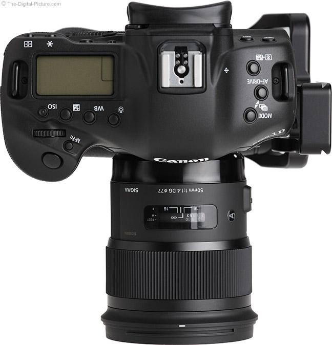 Sigma 50mm f/1.4 DG HSM Art Lens on Canon EOS 1D X – Top View