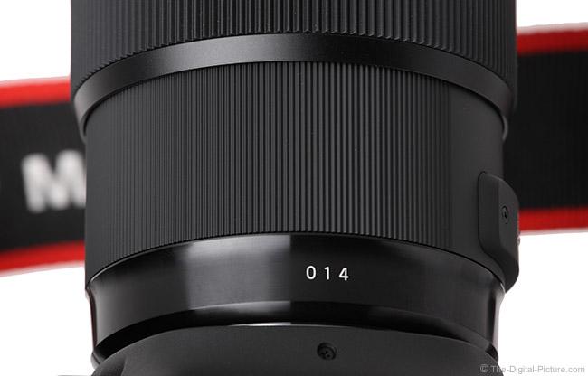 Sigma 50mm f/1.4 DG HSM Art Lens Date Code