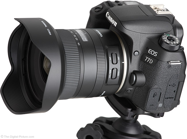 Tamron 10-24mm f/3.5-4.5 Di II VC HLD Lens Angle View with Hood