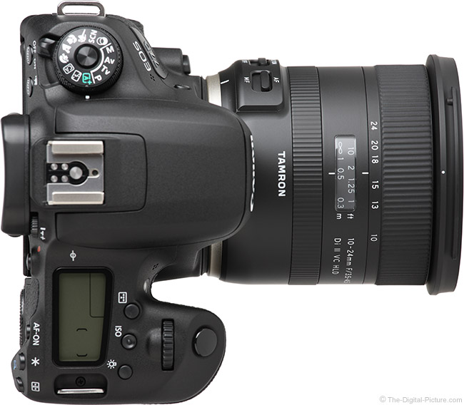 Tamron 10-24mm f/3.5-4.5 Di II VC HLD Lens Top View