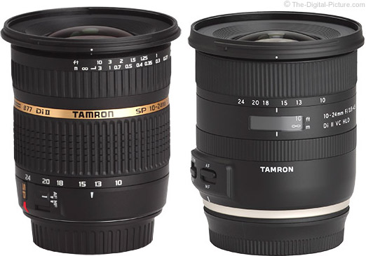 Tamron 10-24mm VC HLD Lens Compared to Previous Model