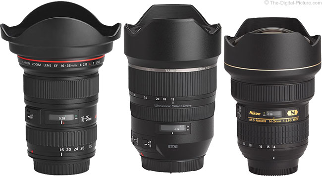 Tamron 15-30mm f/2.8 Di VC USD Lens Compared to Similar Lenses