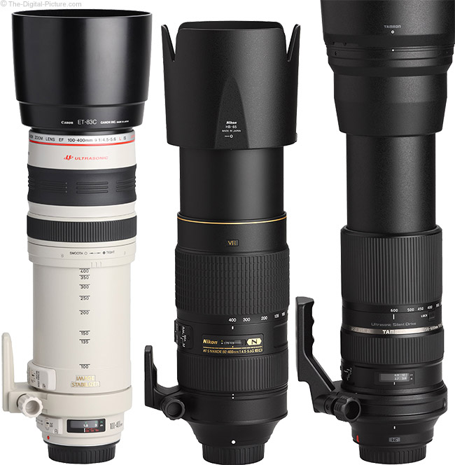 Tamron 150-600mm f/5-6.3 Di VC USD Lens Compared to Similar Lenses with Hoods