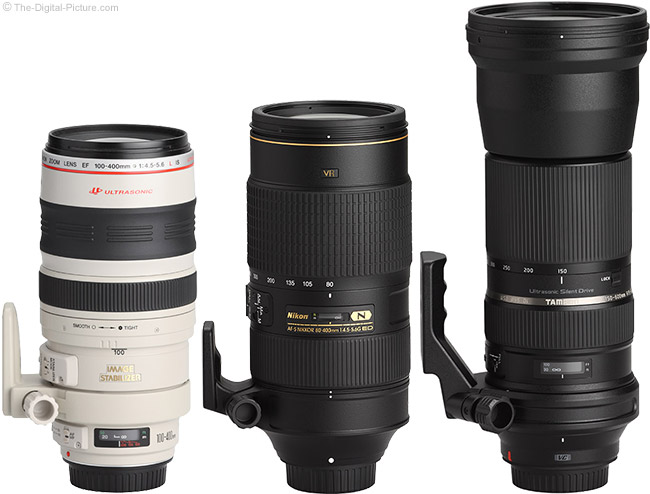 Tamron 150-600mm f/5-6.3 Di VC USD Lens Compared to Similar Lenses