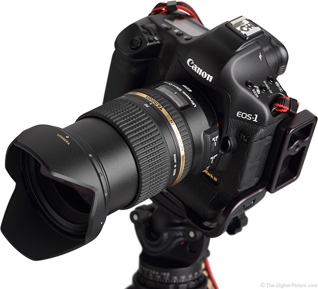 Tamron 24-70mm VC USD Lens on Canon 1Ds Mark III - Angled Top View