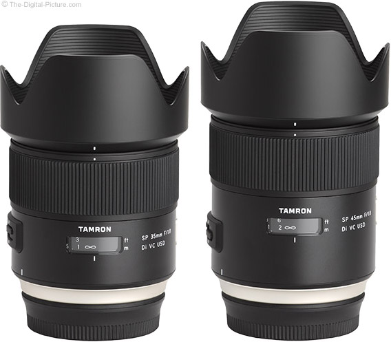 MTF Charts for Tamron f/1.8 VC Prime Lenses