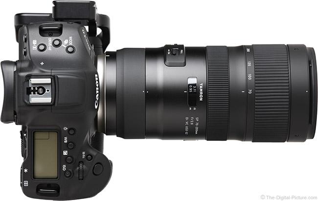 Tamron 70-200mm f/2.8 Di VC USD G2 Lens Top View