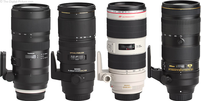 Tamron 70-200mm f/2.8 Di VC USD G2 Lens Compared to Similar Lenses
