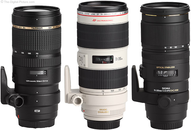 Canon, Tamron and Sigma 70-200mm Lenses