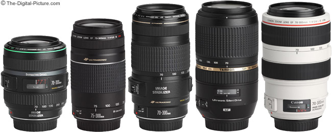 Tamron 70-300mm f/4-5.6 Di VC USD Lens Comparison