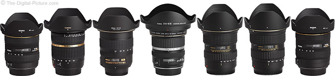 Ultra-Wide Angle Lens Comparison with Hoods