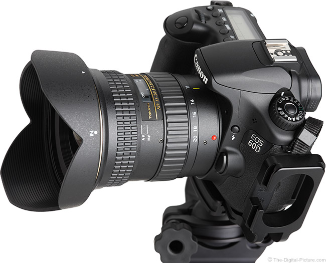 Tokina 11-20mm f/2.8 AT-X Pro DX Lens Angle View with Hood