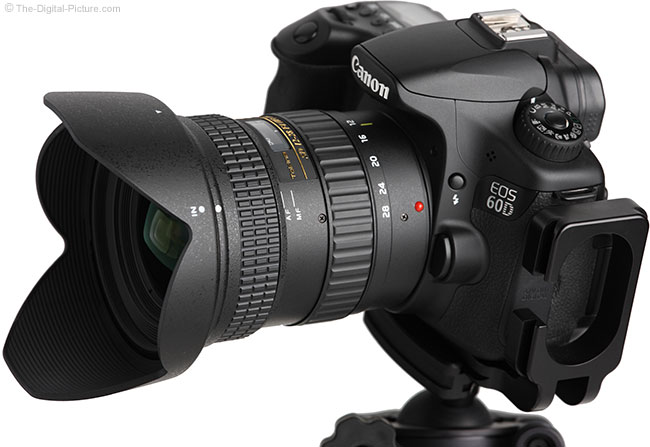 Tokina 12-28mm f/4.0 AT-X Pro DX Lens Angle View with Hood