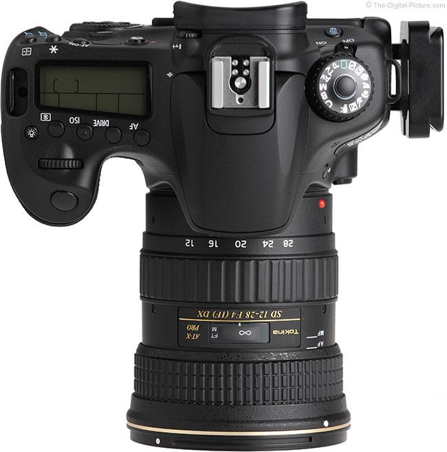 Tokina 12-28mm f/4.0 AT-X Pro DX Lens Top View