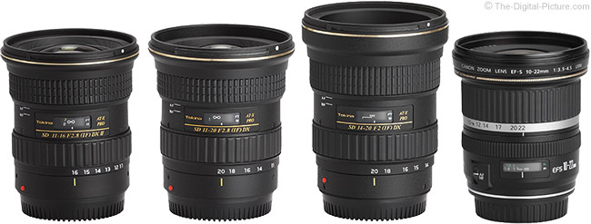 Tokina 14-20mm f/2 AT-X Pro DX Lens Compared to Similar Lenses