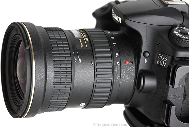 Tokina 14-20mm f/2 AT-X Pro DX Lens Side