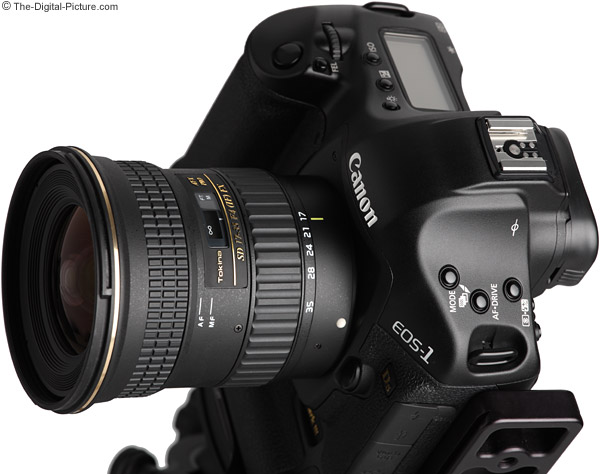 Tokina 17-35mm f/4 AT-X Pro FX Lens Angled View