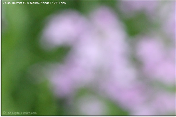 Zeiss 100mm f/2.0 Makro-Planar T* ZE Lens Bokeh Comparison