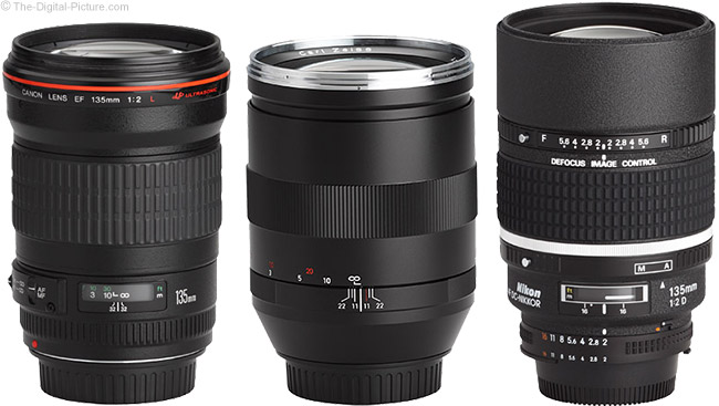 Zeiss Canon and Nikon 135mm Lenses