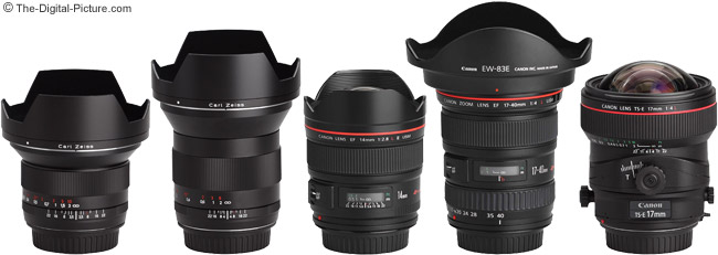 Ultra Wide Angle Lenses - With Hoods in Place