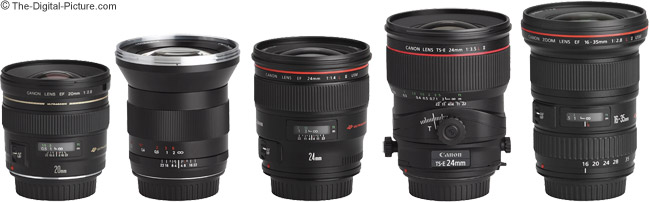 Canon EF 20mm f/2.8 USM Lens and Other Wide Angle Lenses