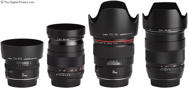 35mm Lenses with Hoods