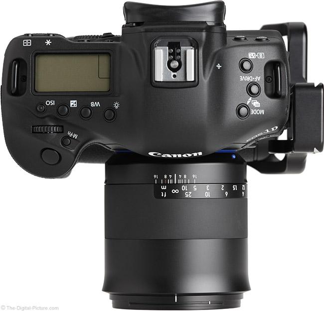 Zeiss Milvus 50mm f/1.4 Lens Top View