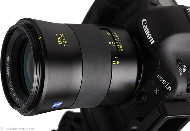 Zeiss Otus 55mm f/1.4 Distagon T* Lens Angle View