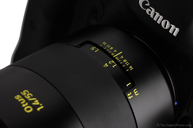Zeiss Otus 55mm f/1.4 Distagon T* Lens Yellow Markings