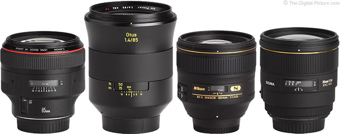 Zeiss Otus 85mm Lens Compared to Competing 85mm Lenses