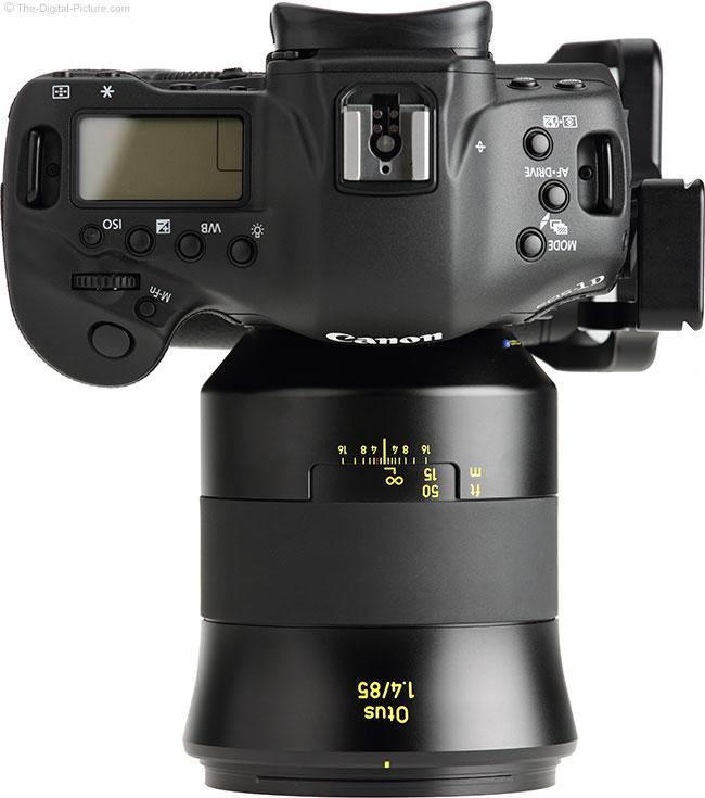 Zeiss Otus 85mm f/1.4 Lens Top View