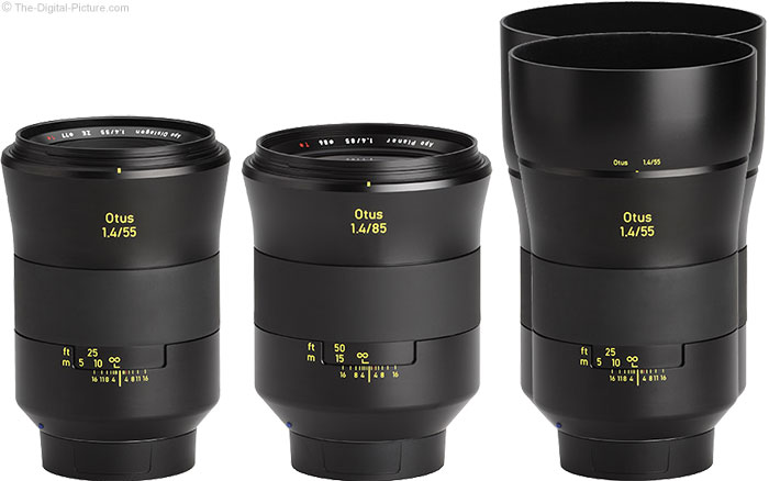 Zeiss Otus 85mm and 55mm f/1.4 Lenses Side-by-Side