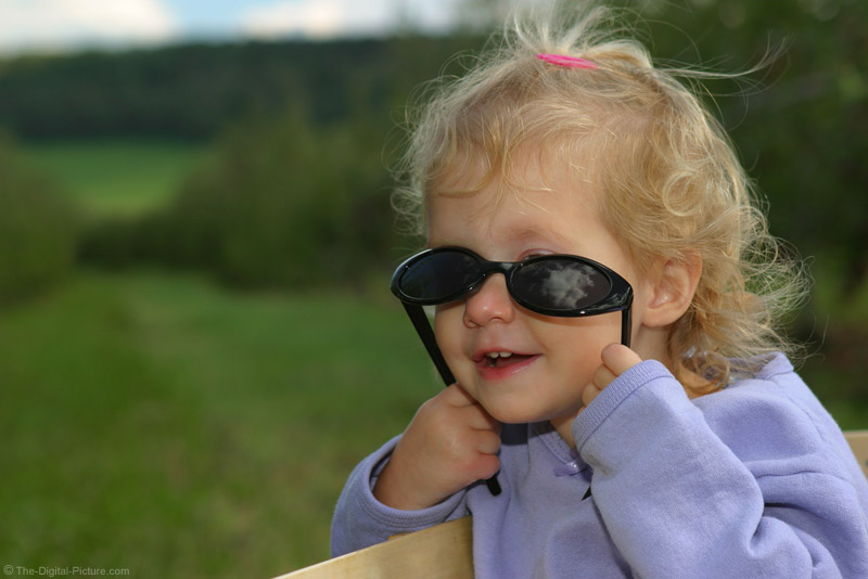 Little Girl in Sunglasses Picture