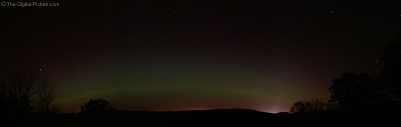 Northern Lights Panoramic Picture