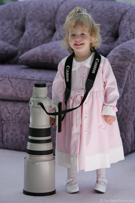 Girl with Canon Super Telephoto Lens